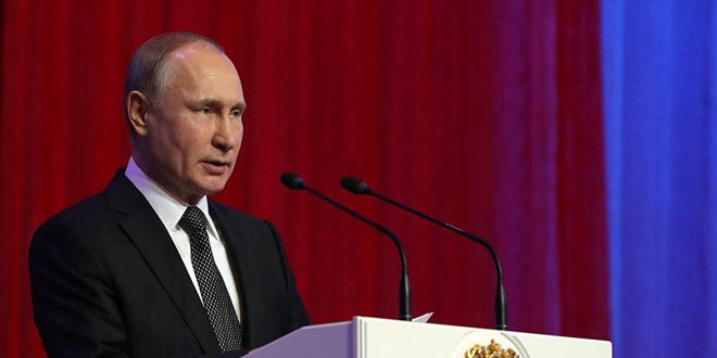 Putin: Russian forces alongside Syrian Army defeated terrorist organizations in Syria
