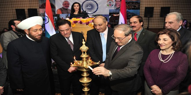 Reception Ceremony In Hindi: Reception Ceremony At Indian Embassy In Damascus On