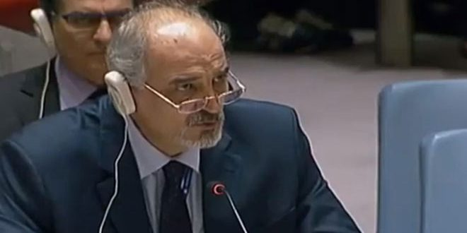 Al-Jaafari: Ending the suffering of Syrians requires applying UN resolutions, including 13 on fighting terrorism
