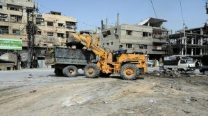 Rehabilitation of damaged infrastructure starts in secured towns in Eastern Ghouta