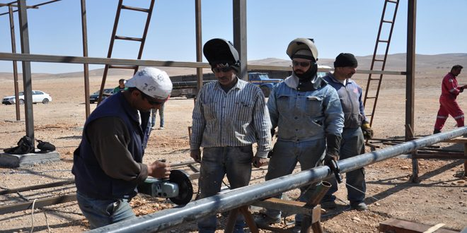 Two gas wells put into service with capacity of half million cubic meters per day