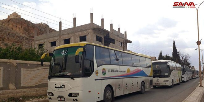 30 buses carrying terrorists and their families prepared to evacuate them from eastern Qalamoun to Jarablos