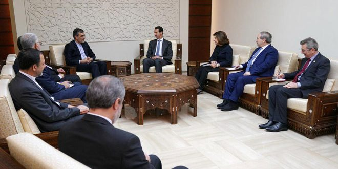 President al-Assad to Jaberi Ansari: Tripartite aggression on Syria will not succeed in stopping the war on terrorism