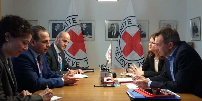 Health Ministry, ICRC discuss cooperation in rehabilitating troubled health sector