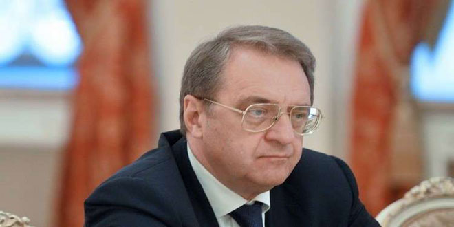 Bogdanov: Syria sovereign state that chooses party that helps it in war on terrorism