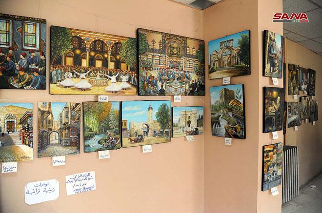 Traditional Handicrafts Exhibition Damascus University 4 Syrian