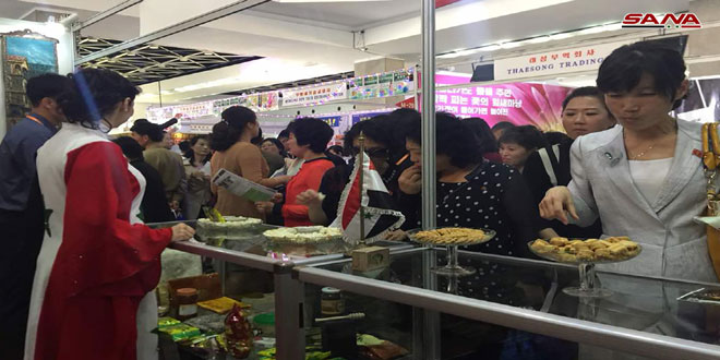 Remarkable turnout at Syrian Pavilion at Pyongyang Spring Int'l Trade Fair