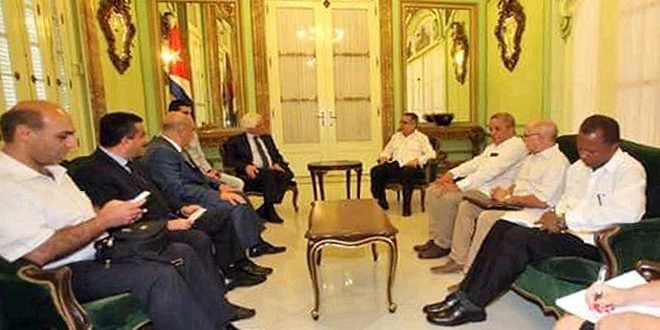 Cuba affirms support for Syria in fighting terrorism