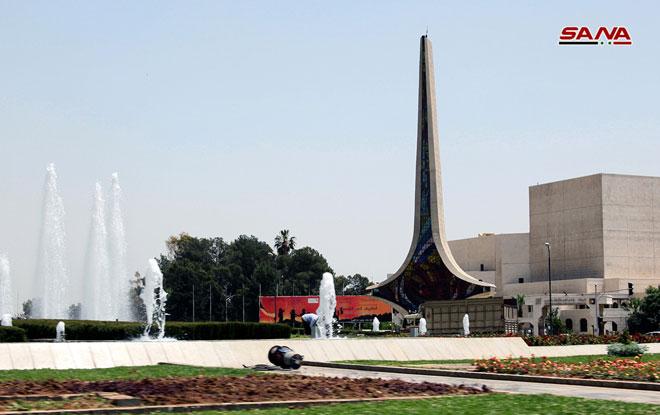 Damascene Sword Monument in Umayyad Square: Contemporary