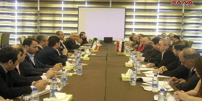 Iranian economic delegation discusses joint agreements with Syria