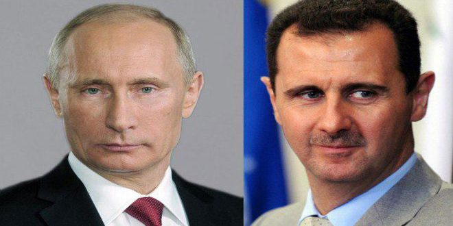 President al-Assad sends cable of condolence to President Putin on the martyrdom of Russian soldiers