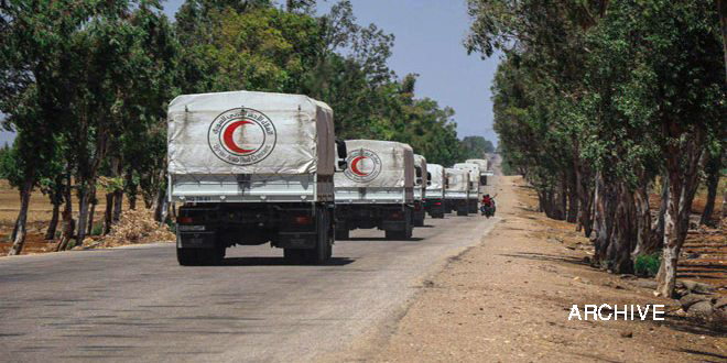 Food convoy arrived in Daraa southeastern countryside