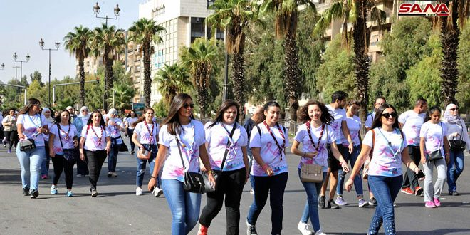 """You Are Life"" Marathon in Damascus to raise awareness about breast cancer early detection"
