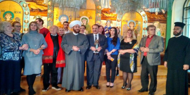 Russian academy of arts awards Syria a souvenir of friendship between the Syrian and Russian children