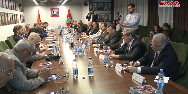 Syrian parliamentary delegation meets Russian community organizations in Moscow