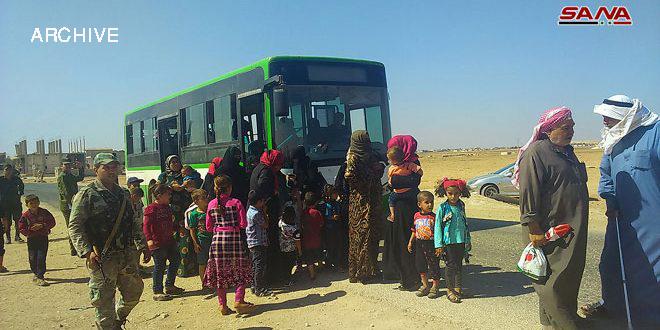 More displaced families return to their homes via Abu al-Dohor corridor