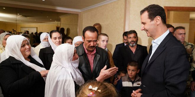 President al-Assad receives liberated abductees of Sweida: the State put liberation of every abductee on top of its priorities
