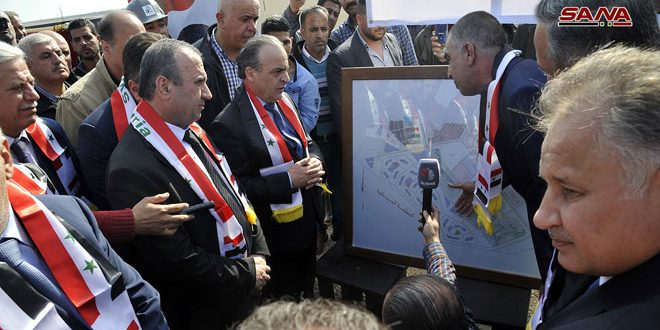 PM Khamis inaugurates service and development projects in Damascus countryside