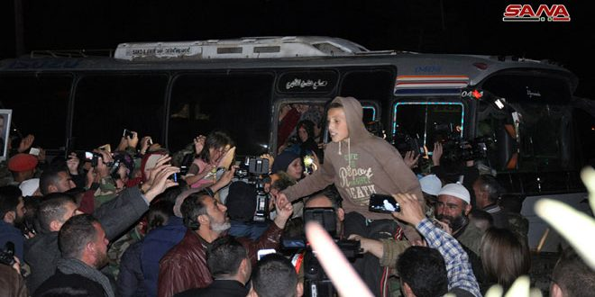 Sweida freed abductees meet their families… their liberation is another victory of Syrian Arab Army against terror
