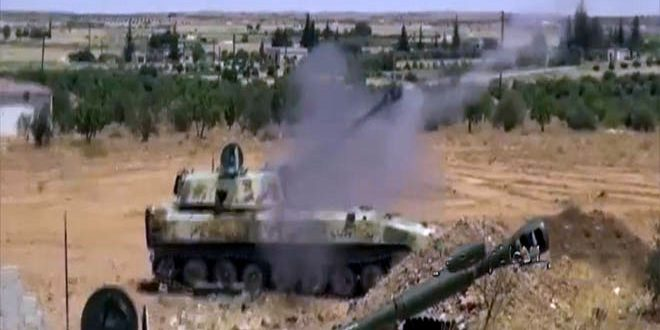 Terrorists' infiltration attempts to towns and military points in Hama Countryside thwarted