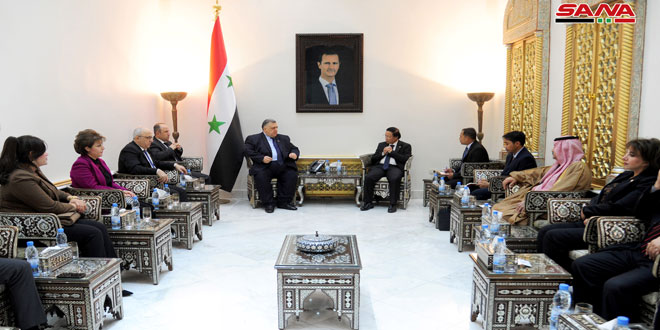 Sabbagh, Indonesian Ambassador to Syria discuss strengthening parliamentary relations
