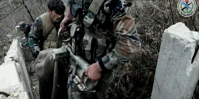 Army foils terrorists' attempt to sneak into military point in Lattakia countryside,
