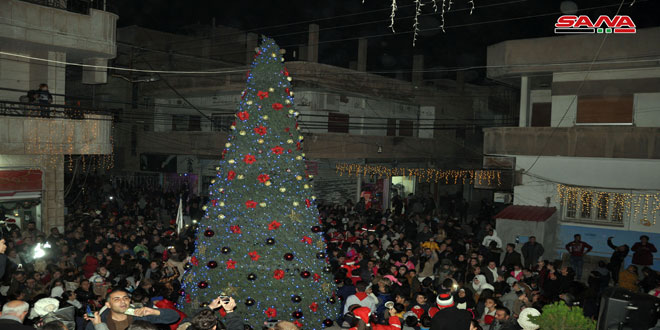 Christmas Tree Lit Up In Hasaka Amid Joy And Songs