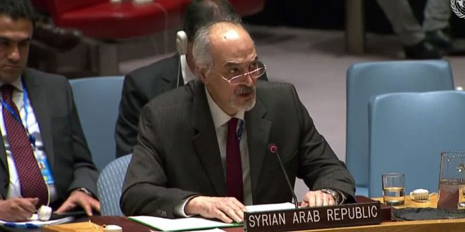Al-Jaafari calls for stopping the politicization of humanitarian affair in Syria