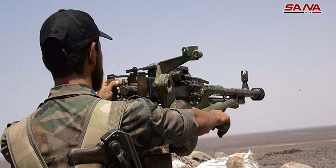 Army thwarts continued terrorists' attempts to attack military points in Hama countryside