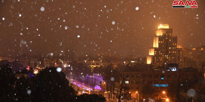 Snowfall in Damascus – Syrian Arab News Agency