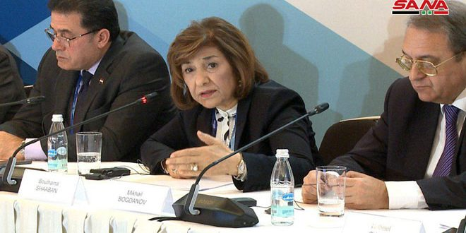 Shaaban: Syria's war on terrorism continuous…Everything related to constitution sovereign matter decided by Syrians