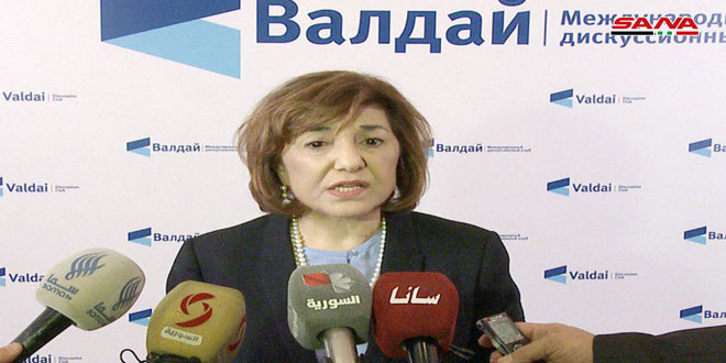 Shaaban: World started to realize scale of disinformation against Syria