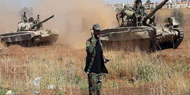 Army expands operations against terrorists in Idleb countryside, destroys their positions in Hama countryside