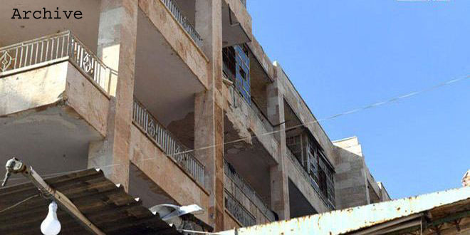 Terrorist shelling attack in Aleppo city causes only material damage