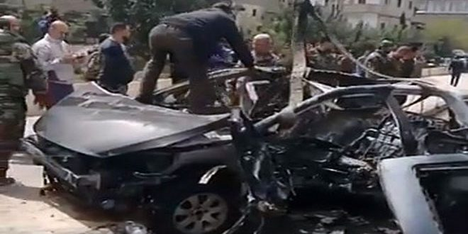 A civilian martyred, 5 injured in a terrorist bombing, south of Damascus