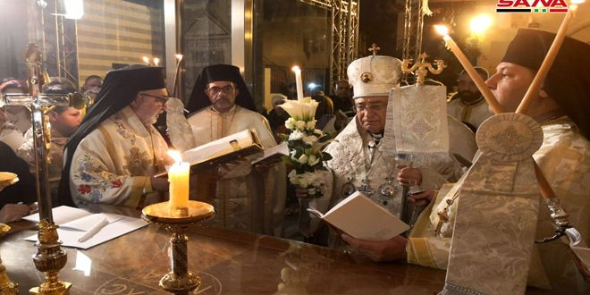 Christian denominations in Syria celebrate Easter by holding prayers and masses