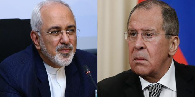 Lavrov, Zarif discuss resolving crisis in Syria