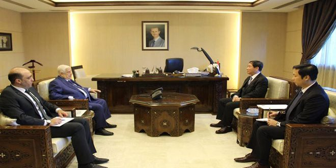 Al-Moallem receives credentials of Vietnam's non-resident Ambassador to Syria