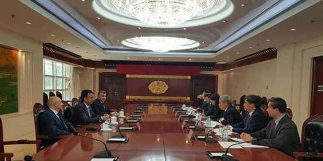Syria, China discuss rehabilitation of education facilities damaged due to terrorism