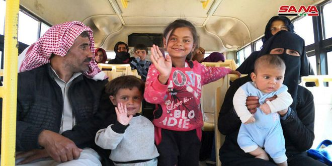 New batch of displaced Syrians returns from al-Rukban camp