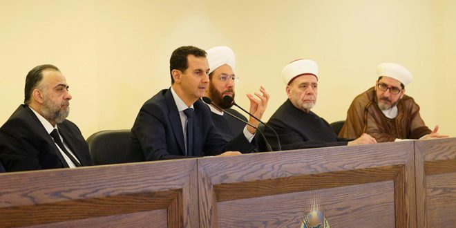 President Al-Assad inaugurates  the International Islamic Cham Center on confronting terrorism and extremism