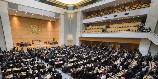Syria takes part in 72nd World Health Assembly next Monday in Geneva