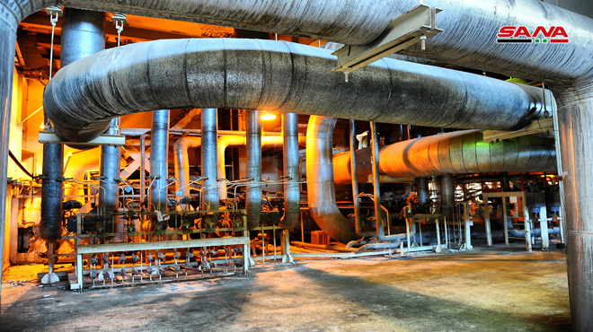 Indian company resumes project of expanding Tishreen Thermal Plant