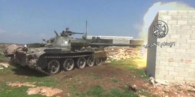 Army responds to breaches of al-Nusra terrorists, destroys their dens in northern Hama