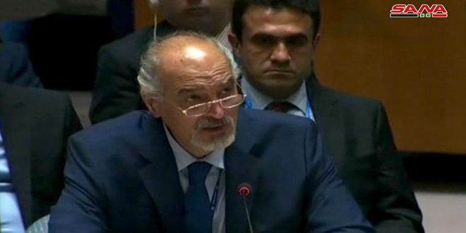 Al-Jaafari: Syria will continue to defend its land and citizens, combat terrorism, and end illegitimate foreign presence