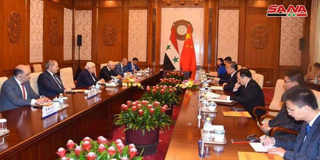 Syrian-Chinese talks on enhancing bilateral relations in all fields