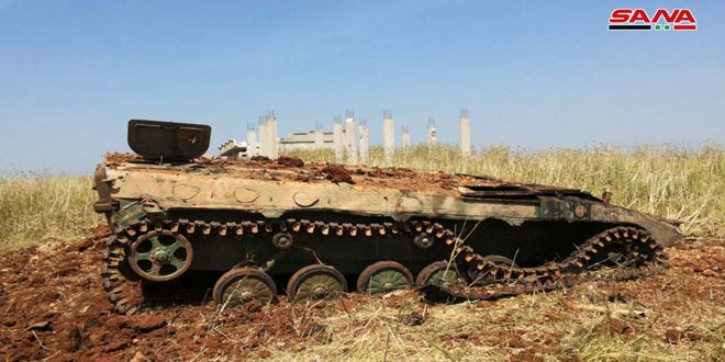 Army units destroy Jabhat al-Nusra vehicles in countryside of Idleb, Hama