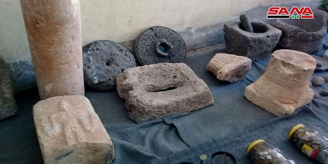 Archeological artifacts stolen by terrorists found in Homs countryside