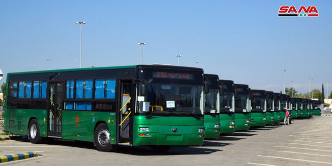 China grants 100 buses to Syria in contribution to enhancing transport sector