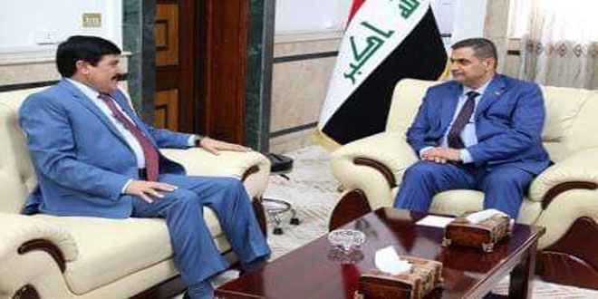 Iraqi defense Minister, Syrian Ambassador discuss war against terrorism